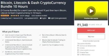 bitcoin litecoin & dash cryptocurrency bundle