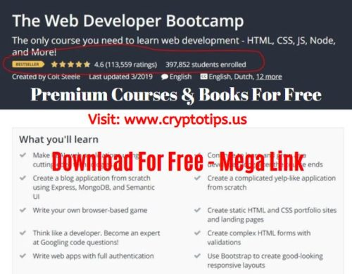 The Web Developer Bootcamp Udemy Course Download For Free