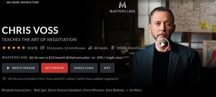 MasterClass - Chris Voss Teaches the Art of Negotiation Download For Free